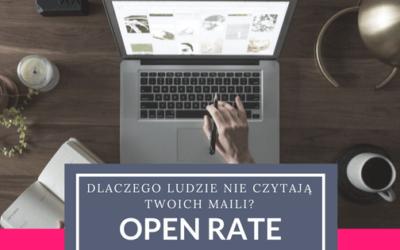 Dlaczego ludzie nie czytają Twoich maili? Słówko o open rate
