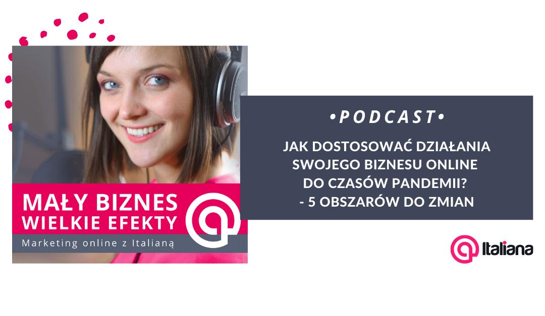 Podcast: Jak dostosować działania swojego biznesu online do czasów pandemii? 5 obszarów do zmian