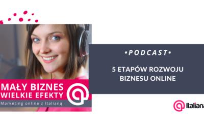 Podcast:  Etapy rozwoju biznesu online – mój 5-stopniowy model