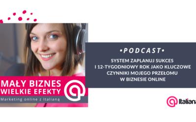 Podcast: system zaplanuj sukces i 12-tygodniowy rok jako kluczowe czynniki mojego przełomu w biznesie online