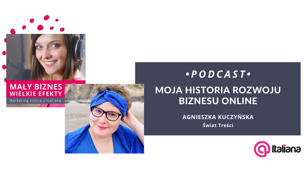 Podcast: Moja historia rozwoju biznesu online – rozmowa z Agnieszką Kuczyńską
